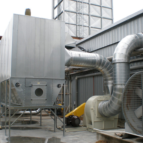Industry:Timber Processing<br /> Filter System Type: Bag Filter, Reverse cleaning<br /> Type of Dust: Wood shavings<br /> Air Volume: 20,000 M3/h
