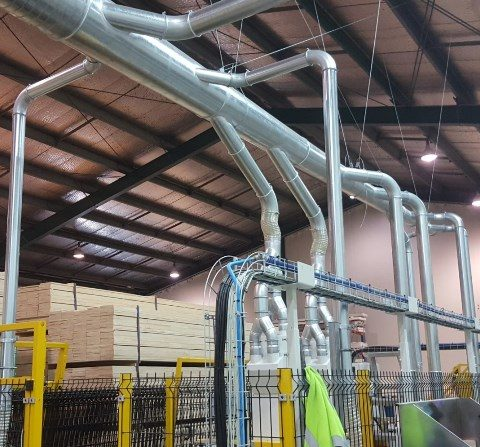 Industrial Duct Extraction System