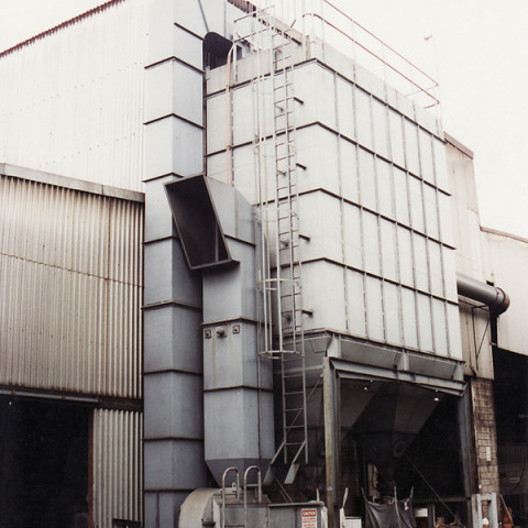 Industry: Foundry<br /> Filter System Type: Bag Filter, Reverse pulse<br /> Type of Dust: Iron casting sand<br /> Air Volume: 30,000 M3/h