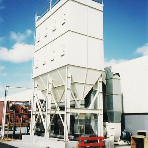 Industry: Furniture Manufacture<br /> Filter System Type: bag Filter, Reverse pulse<br /> Type of Dust: Medium Density Fibre<br /> Air Volume: 50,000 M3/h