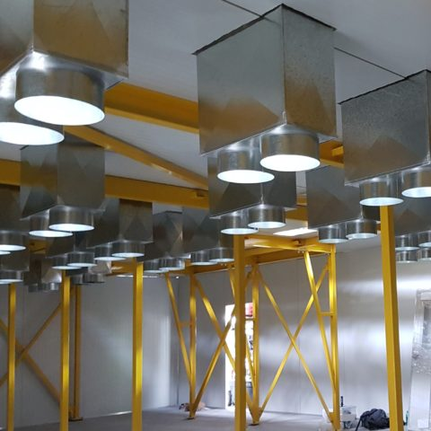 Automated Spray Paint Process Drying Room