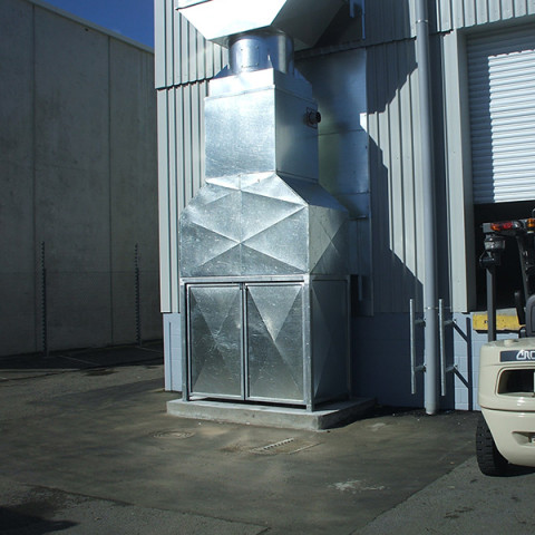 Heated supply air systems for resin factories and workstations. Diesel and natural gas fired.