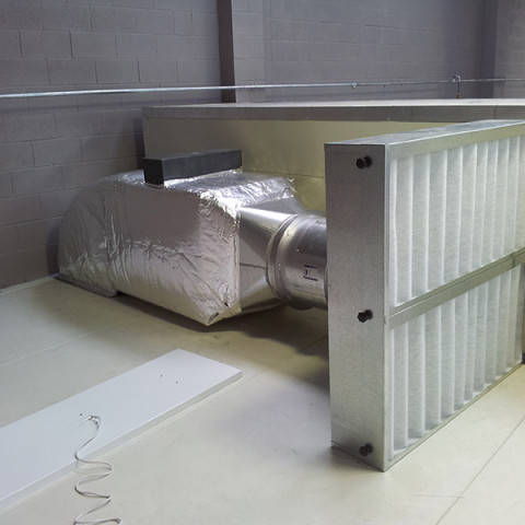 Electric 20kw drying room supply air heater c/w filtered supply and control systems to AS/NZ 4114.
