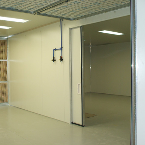Production paint shop with internal access to 10m x 6m heated, ventilated drying rooms.