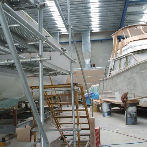 Large spray plenums for industry / marine painting where booths are not practical. Used with barriers to achieve 0.5m/s velocity or air changes where exemptions take place.