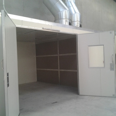 Product polish shop design and build to AS/NZ 4114. Heated spray booths, drying rooms, turnkey projects.